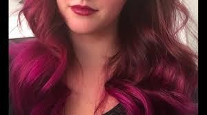 black hair to raspberry hair sparks hair dye rad raspberry youtube