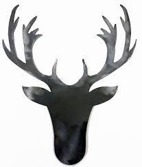 metal stamping deer head buck stag silhouette 072