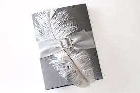 silver and white invitations embellished paperie blog custom vintage couture wedding