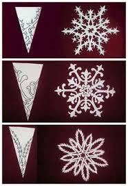 snowflake paper cutting winter