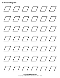 parallelogram template free printable pattern for english paper