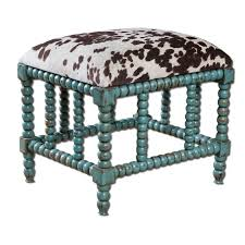 turquoise and cowhide perfect pairings hayneedle