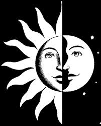 crescent moon and sun drawing clipartxtras