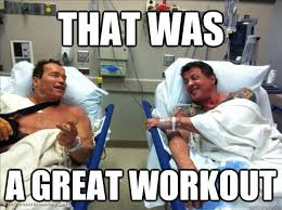 Injury Meme - no pain no gain injury vs gains crossfit woden