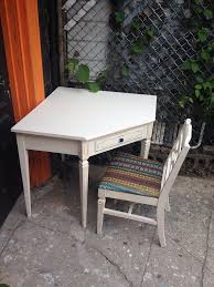 Corner Desk With Chair Vintage Dixie Shabby Chic Corner Desk Chair On Etsy 365 00