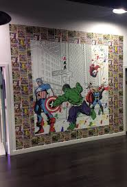 36 best kids marvel images on pinterest kid decor marvel graham and brown marvel mural using the best selling wallpaper as a border trend