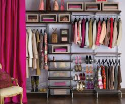 use closet wire shelving to have some organized space for clothes