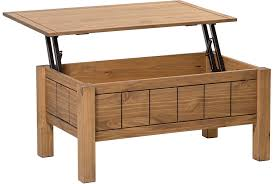 solid wood coffee table with lift top corona lift up coffee table with storage mexican design waxed