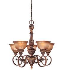 5 Light Bronze Chandelier Minka Lavery 1355 177 Illuminati 5 Light Bronze Chandelier
