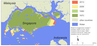 Singapore Map Asia land reclamation in singapore u2013 a walk in the park