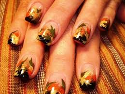 11 beautiful brown and orange nail designs
