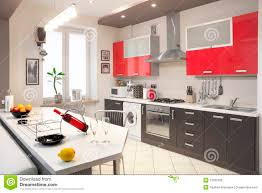 Kitchen Interior Modern Kitchen Interior Stock Photo Image Of Marble 13183106