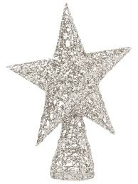 christmas tree topper christmas tree topper glitter gold silver decoration 25cm
