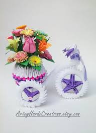 3d Origami Flower Vase Tutorial 42 Best Origami 3d Images On Pinterest Free Pattern Paper And