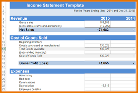 8 income statement template excel itinerary template sample