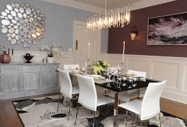 Wainscoting Dining Room Mirrored Buffet Table Dining Room Modern With Beige Door Beige