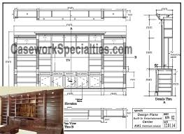 wall unit plans plans built in wall units plans