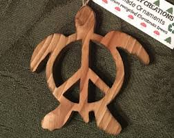 peace sign ornament etsy