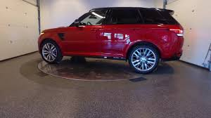land rover red range rover sport svr red youtube