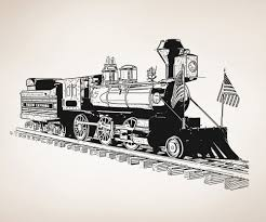 vinyl wall decal sticker old fashioned train train bedroom