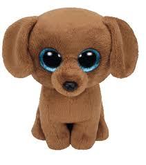 ty beanie boo dougie brown dachshund dog beanie boos