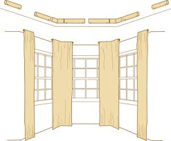 Ceiling Mount Rod by How To Bay Windows Curtain Rods Drapery Rods Rings