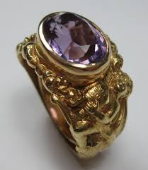 engagement rings awesome vintage amethyst antique amethyst gold bishop ring amethysts unique and ring