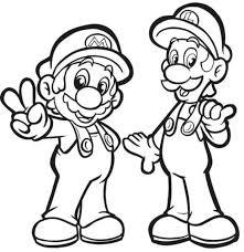 super mario bros coloring pages luigi coloring pages