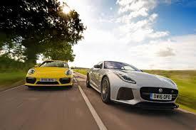 jaguar f type vs porsche 911 jaguar f type svr vs porsche 911 turbo pictures jaguar f type
