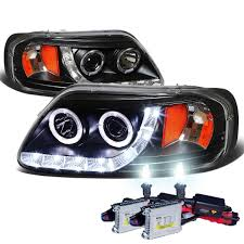 hid xenon 97 03 ford f150 expedition angel eye led strip