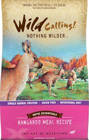 wild calling xotic essentials kangaroo meal recipe grain free dry