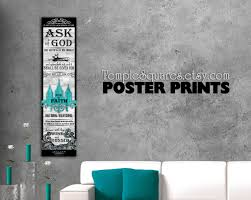 Posters Home Decor Printed Posters Ask Of God Ask In Faith Yw 2017 Mutual Theme F
