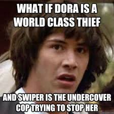 Swiper The Fox Meme - what if dora is a world class thief and swiper is the undercover