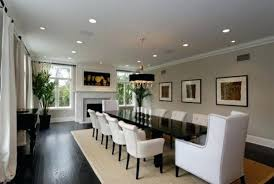 huge dining room tables inspiration for a large contemporary beige