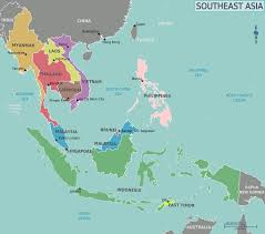 Asia Map With Country Names by Southeast Asia U2013 Travel Guide At Wikivoyage