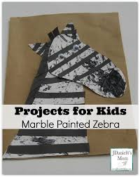 for kids marble painted zebra