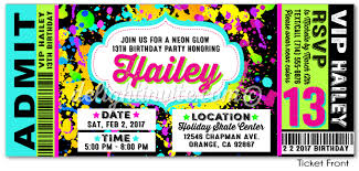 neon birthday invitations neon birthday invitations for simple