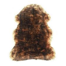 u s sheepskin shag rug single pelt tan with brown tips u2013 ultimate
