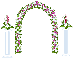 flower arch floral arch and columns best web clipart