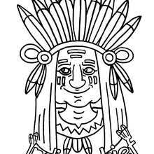 indian chief coloring pages hellokids