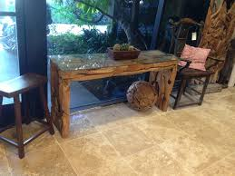 Unique Hallway Tables Unique And Vintage Hallway Console Table Made From Reclaimed Wood