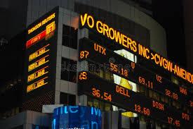 stock ticker stock ticker in times square editorial photo image 17198601