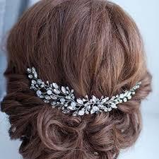 rhinestone hair handmade bridal hair flower rhinestone hair jewelry