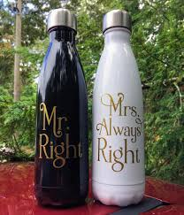 bride and groom swell bottles wedding couple engagement