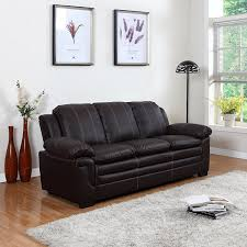 Living Room Furniture Black Amazon Com Divano Roma Classic Bonded Leather Sofa And Loveseat