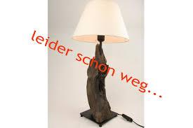 Wohnzimmerlampe Design Holz Treibholz Lampe Mit Schirm Www Treibholz Bodensee De