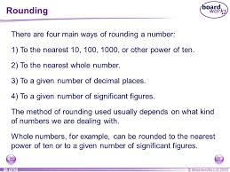 rounding integer numbers n4 decimals and rounding ppt