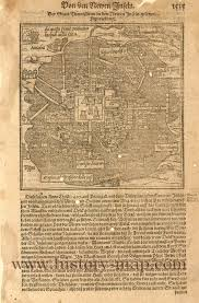 Map Mexico City by Mexico City In 1500 U0027s