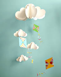 love this could work for either boy or kites and clouds
