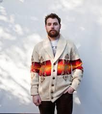 pendleton sweaters vintage pendleton sweater 1970s knit button up mens orange